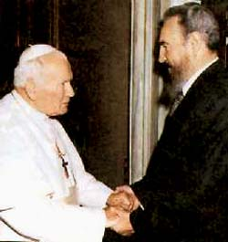 John Paul II supporting Castro in 1998